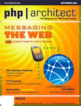 The cover of php|architect's September 08 issue